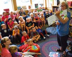 Story time at Lubec Memorial Library